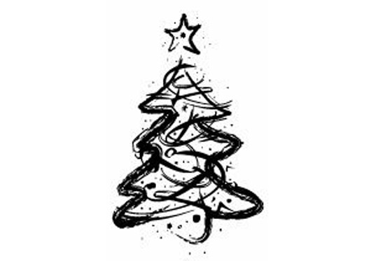Set of Christmas Trees Vector Graphic