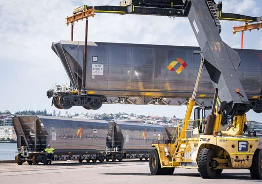 Hunter Valley coal wagon delivery