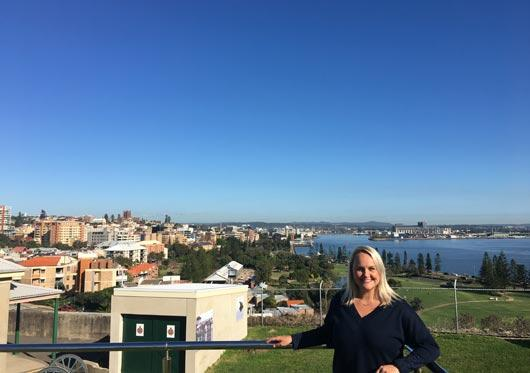 Lord Mayor Nuatali Nelmes at Fort Scratchley