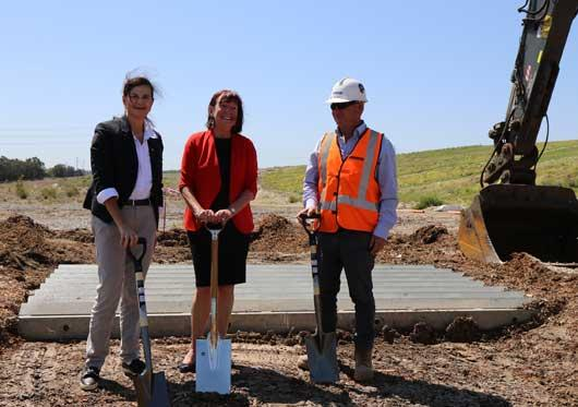 Munibung Road extension sod turn